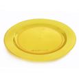 assiette jaune