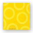 serviette jaune