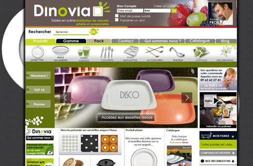 nouveau design hiver pour le site assiette jetable de Dinovia