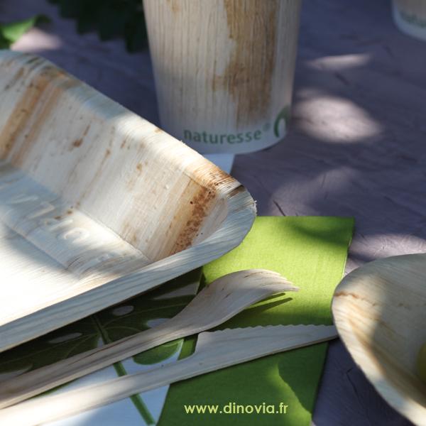 L u2019été s u2019annonce et la vaisselle jetableécologique en bois de palmier vous séduit ! DINOVIA  # Vaisselle Jetable En Bois