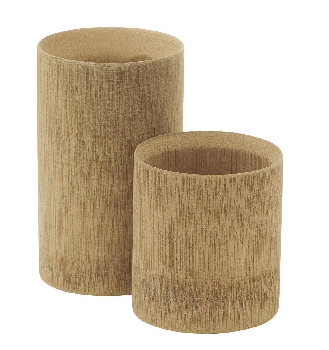 verrine biodégradable et compostable en bois de bambou