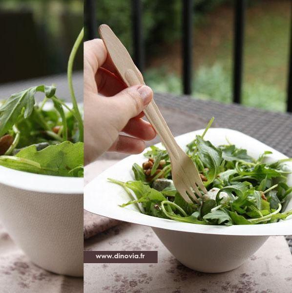 Saladier en fibres biodégradable compostable DESIN