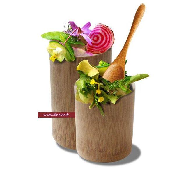 verrine bambou pour une vaisselle jetable naturelle cologique et biod gradable dinovia. Black Bedroom Furniture Sets. Home Design Ideas