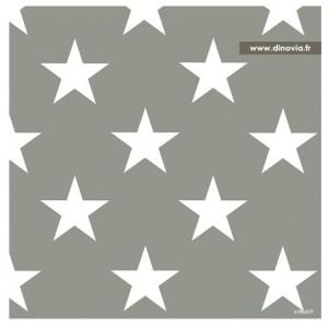 serviette papier grise avec des étoiles
