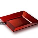 vaisselle jetable rouge carmin