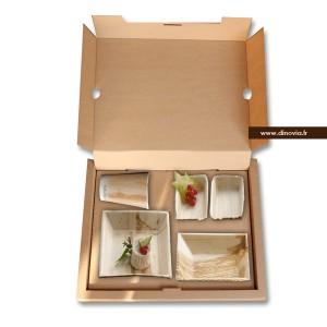 plateau repas carton brun