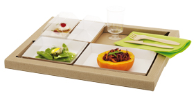 plateau repas design et ecologique