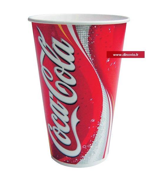 Gobelet carton coca cola