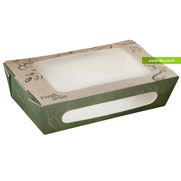 Barquette alimentaire en carton kraft compostable