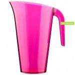 pichet plastique jetable couleur rose