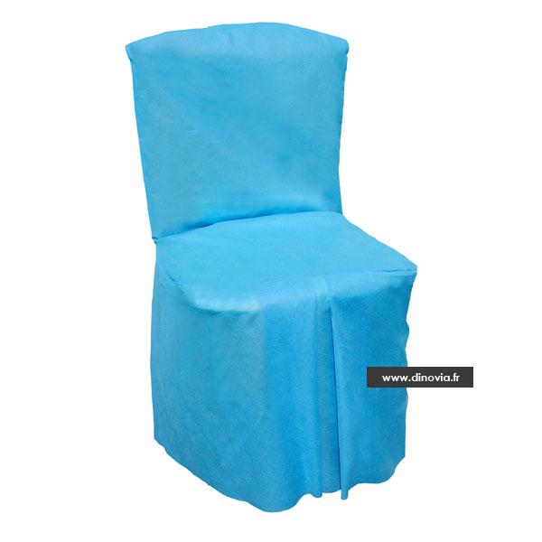Housse de chaise intiss e ou aspect tissu pour les grands for Housse de chaise tissus