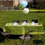 nappe verte et soleil pour un beau mariage