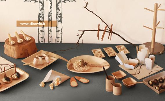 une alternative la vaisselle jetable plastique dinovia vaisselle jetable et d coration de. Black Bedroom Furniture Sets. Home Design Ideas