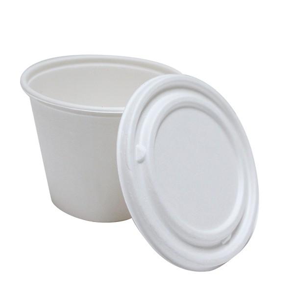 bol soupe biod gradable de 49 cl en canne sucre avec couvercle pour la vente emporter. Black Bedroom Furniture Sets. Home Design Ideas