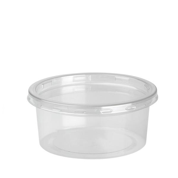 pot rond a dessert jetable 21 cl et son couvercle