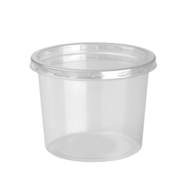 pot rond a dessert jetable 37 cl avec couvercle