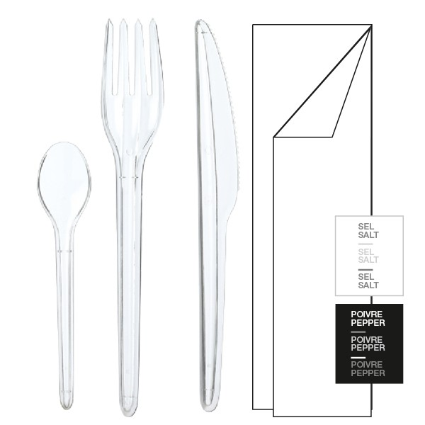 Kit couverts Din'Amic cristal 6/1