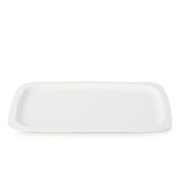 plateau jetable blanc plastique