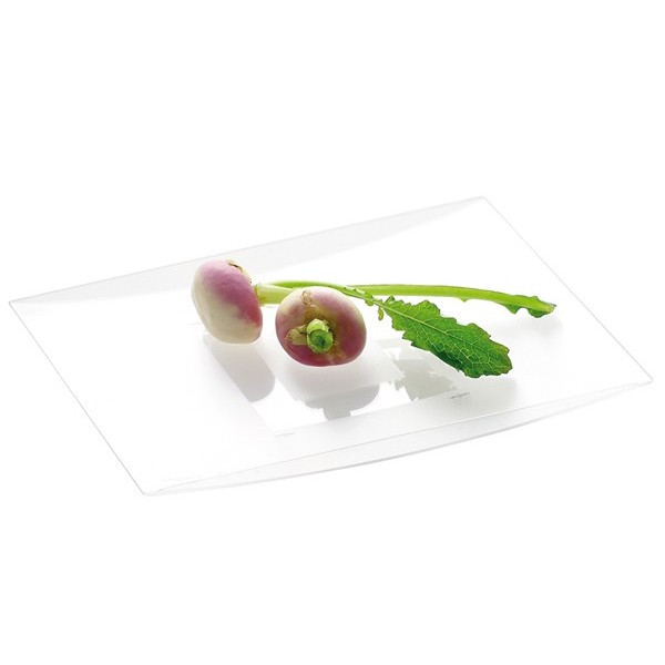 Assiette jetable ONDEO Transparente 18 x 13 cm