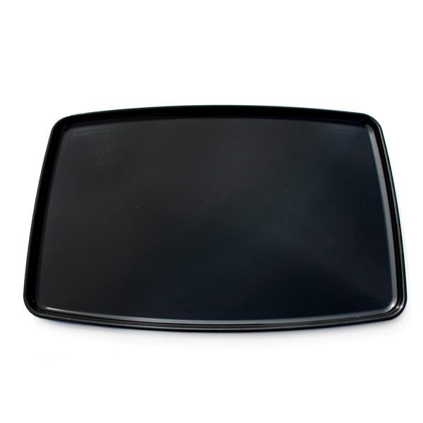 Plateau carré noir 40 x 40 cm