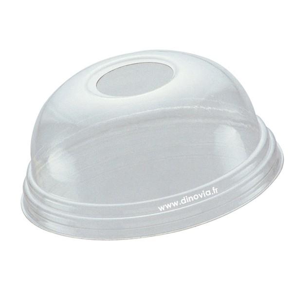 couvercle dome avec trou pour gobelet en plastique recycle 30 cl