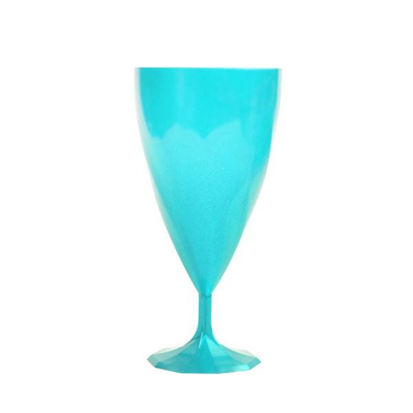 Verre à vin turquoise 15 cl
