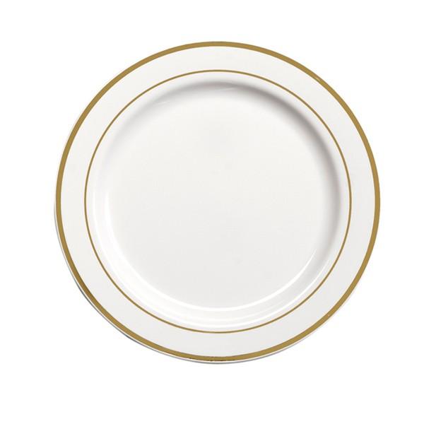 Assiette Ronde Liseré OR 19 cm par 20