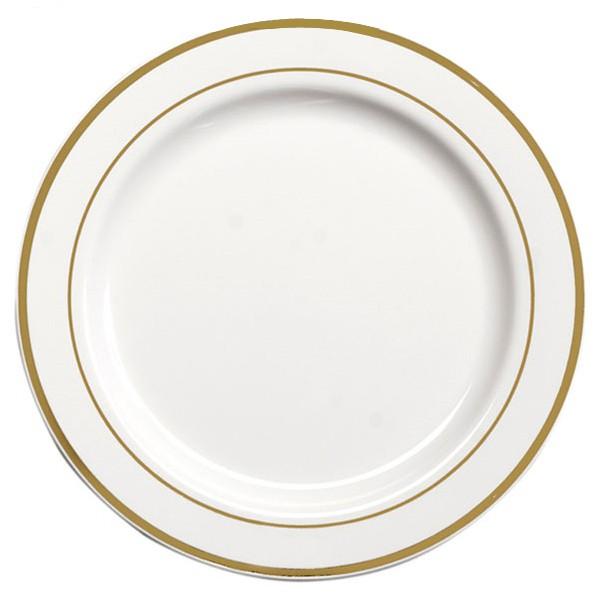 Assiette Ronde Liseré OR 26 cm par 20