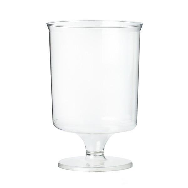 verre a pied jetable plastique transparent 16 cl