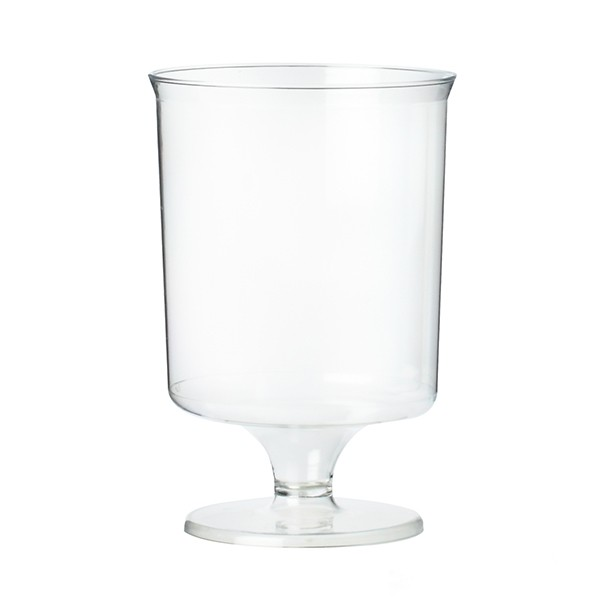 verre a pied jetable transparent 10 cl