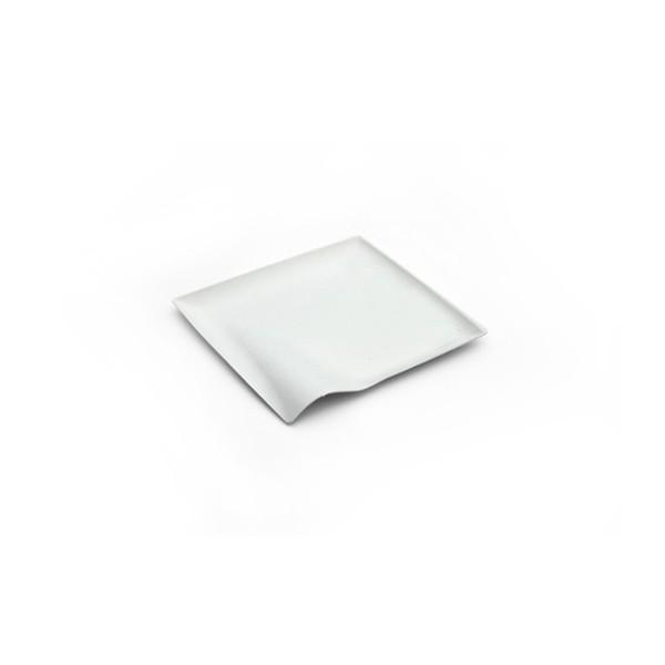 Assiette carrée WAVE 8 cm par 500
