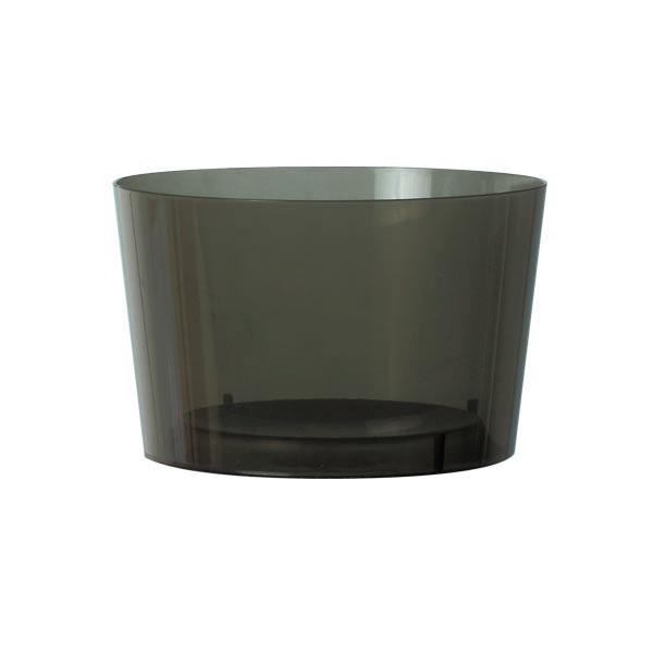 verrine jetable gris fumé 22 cl avec couvercle