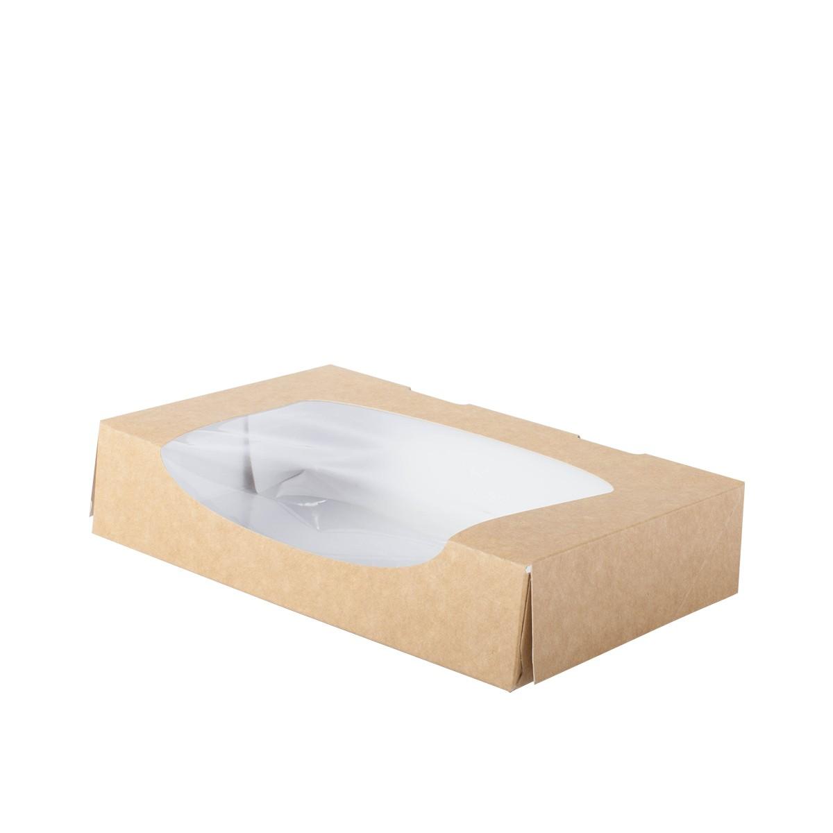 boite patissiere carton avec fenetre taille L