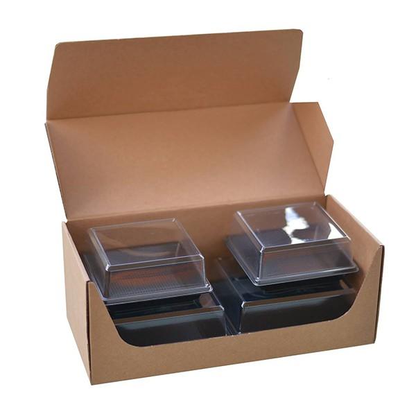 Lot de 4 coupelles noires micro-ondables pour Coffret CITY