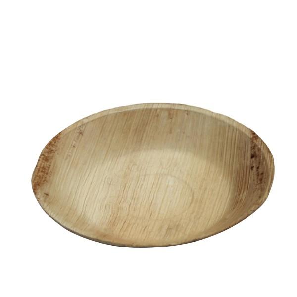 assiette ronde creuse en palmier 20 cm
