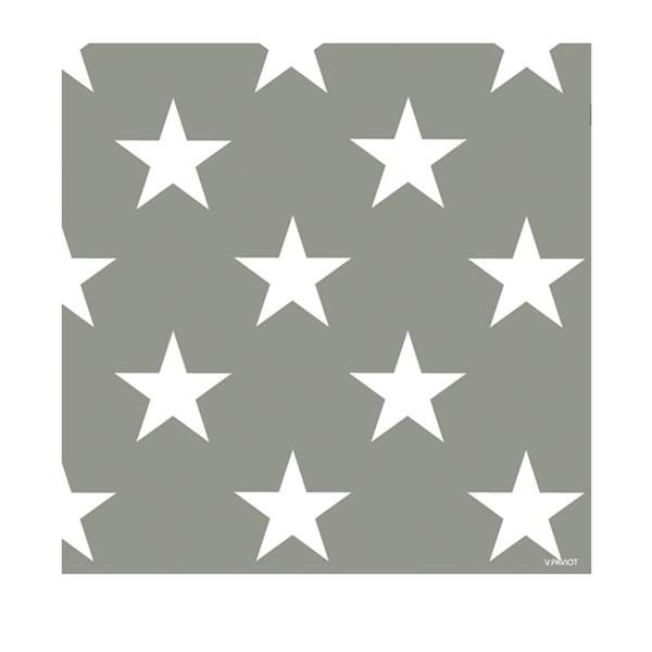 Serviettes STAR gris 40x40