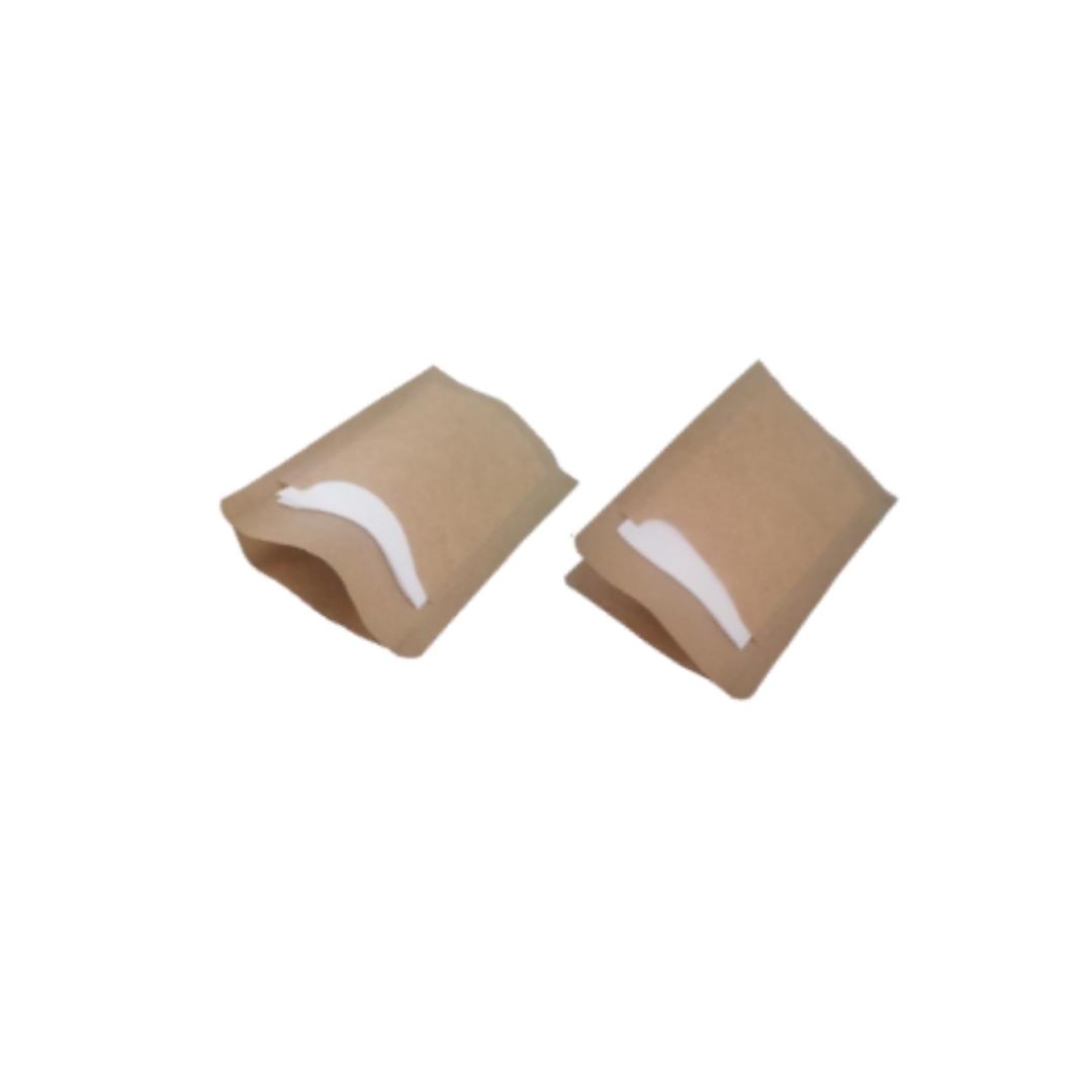 Sachet kraft brun sandwich/dessert 194X210 avec Serviette Blanche