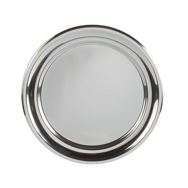 Assiette ronde argentée