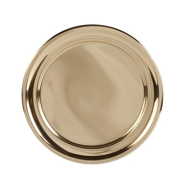 Assiette ronde SILVER dorée