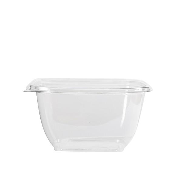 Saladier jetable carré transparent 50 cl vente a emporter