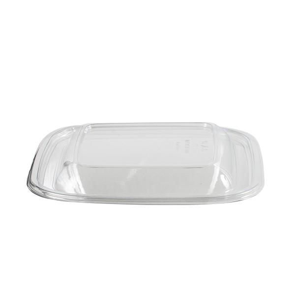 Couvercle transparent pour saladier jetable carré 17.5 x 17.5 cm