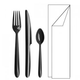 Mini kit couverts 4/1 noir Lux by Starck