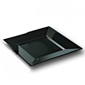 Assiette carrée noire PRESTIGE 24 x 24 cm