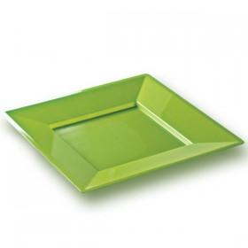 Assiette carrée verte PRESTIGE 24 x 24 cm
