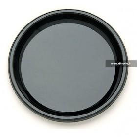 Assiette ronde noire 23 cm