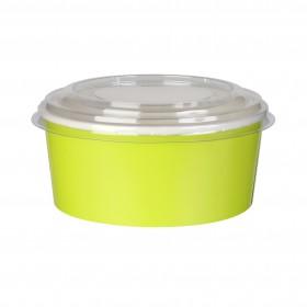 Boite à salade carton verte 60 cl