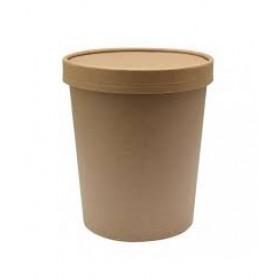 Couvercle Kraft Brun pour Pot à Soupe 50cl