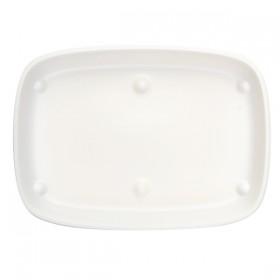 Assiette  U/ME Creme Grand Modèle rectangulaire 18*13 cm