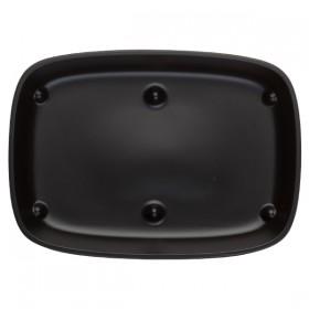 Assiette  U/ME Noire Reglisse Grand Modèle rectangulaire 18*13 cm
