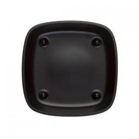 Assiette Carrée Noire réglisse U/Me 13*13 cm